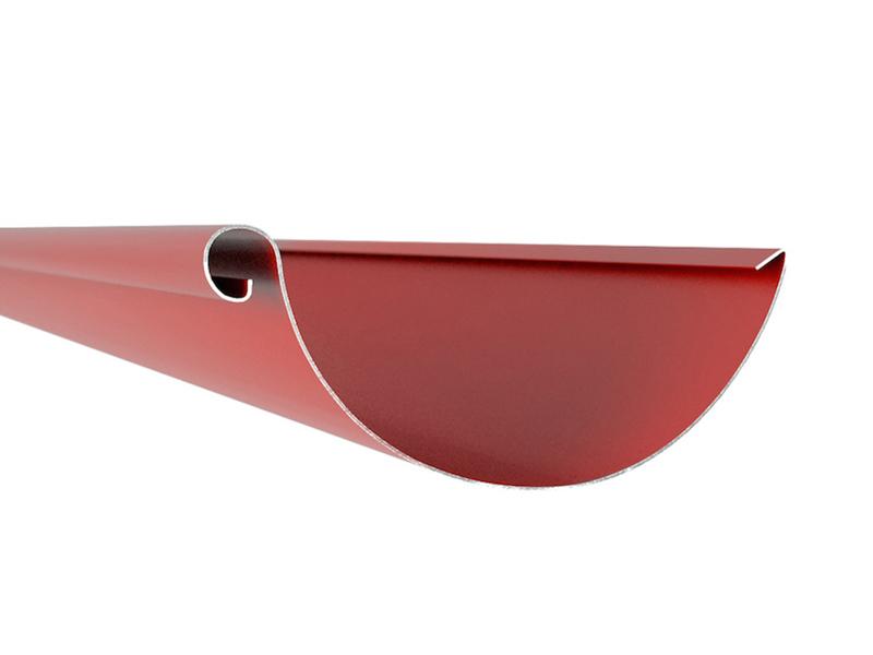 Желоб 2 метра темно-красный 125/87 – Фото 1