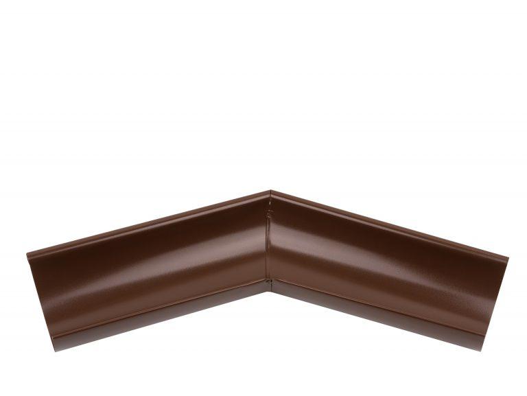 Внешний угол желоба 135° коричневый 125/87
