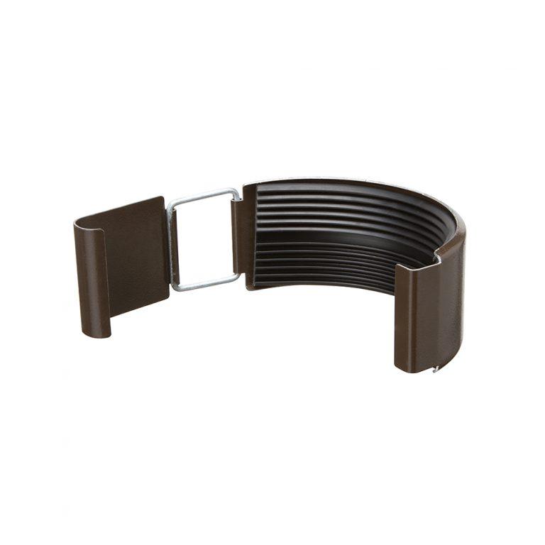 З'єднувач ринви темно-коричневий 125/87
