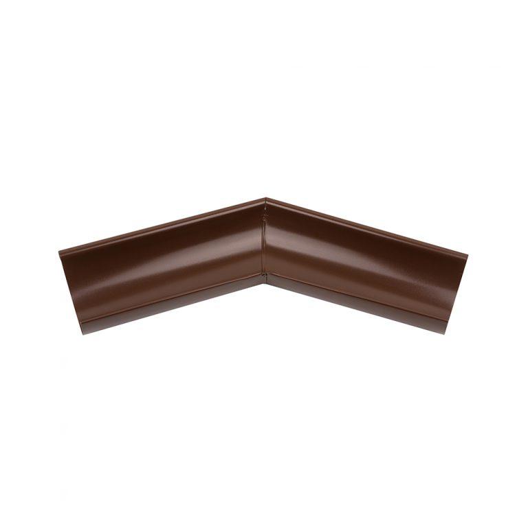 Зовнішній кут ринви 135° коричневий 125/87