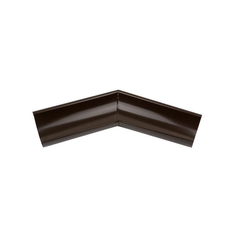 Внешний угол желоба 135° темно-коричневый 125/87