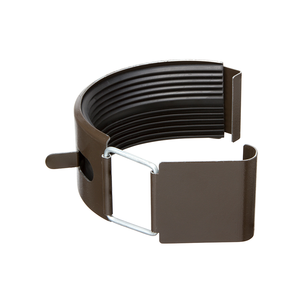 З'єднувач ринви темно-коричневий 125/87 – Фото 1