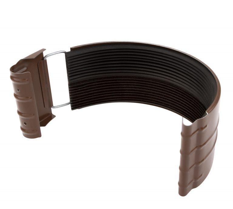 З'єднувач ринви коричневий 150/100