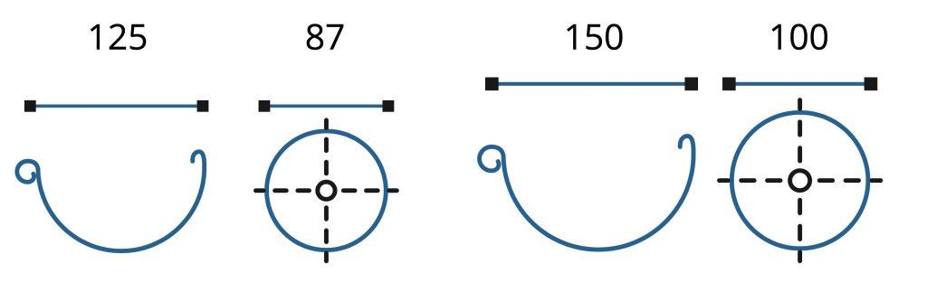 водосточная система 150 100 мм